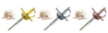 Miniature Spanish Tizona Cup Hilt Rapier Sword